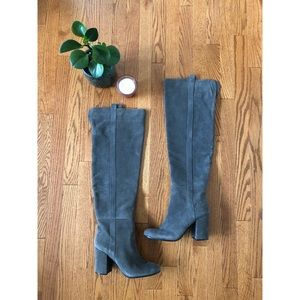 Vero Cuoio Grey Suede Over the Knee Boots